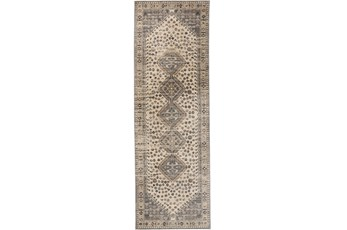 30X91 Rug-Updated Traditional Beige/Grey