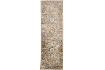 30X91 Rug-Multi Traditional Medallion Beige