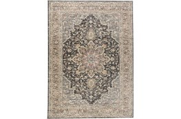 "4'9""x7'7"" Rug-Traditional Medallion Grey/Charcoal"