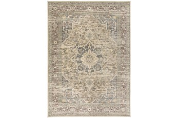 "7'8""x10'5"" Rug-Multi Traditional Medallion Beige"