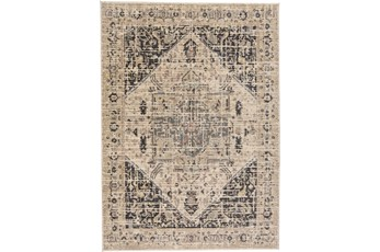 "7'8""x10'5"" Rug-Faded Traditional Charcoal/Beige"