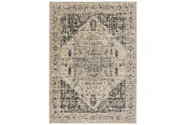 """7'8""""x10'5"""" Rug-Faded Traditional Charcoal/Beige"""