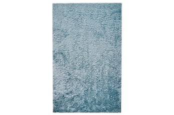 90X114 Rug-Luxe Sheen Light Aqua