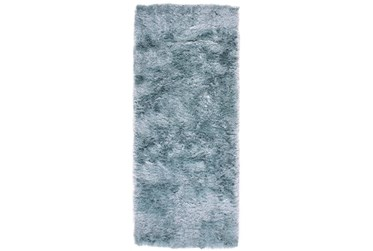 """2'5""""x6' Rug-Luxe Sheen Light Aqua"""