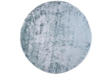 8' Round Rug-Luxe Sheen Light Aqua