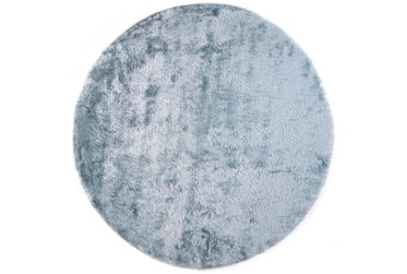10' Round Rug-Luxe Sheen Light Aqua