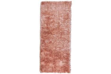 """2'5""""x6' Rug-Shag Luxe Sheen Blush"""