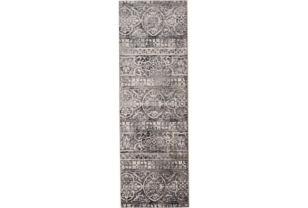 "2'6""x8' Rug-Alexander Charcoal/Ivory"