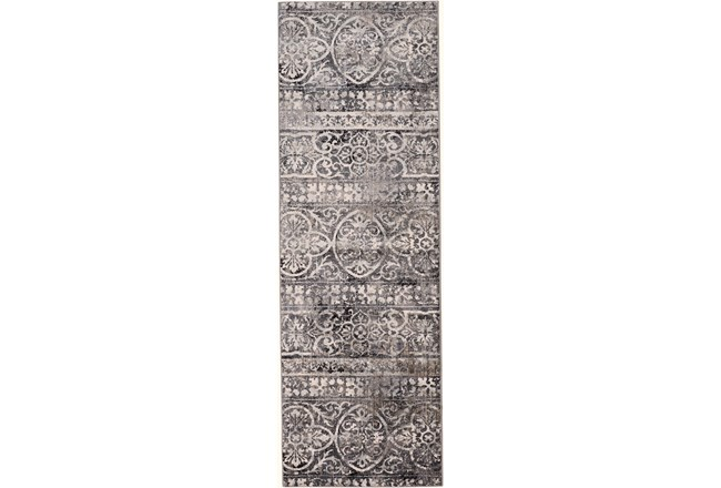 "2'6""x8' Rug-Alexander Charcoal/Ivory - 360"