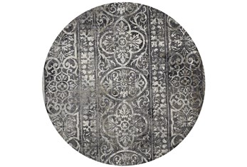 """8'7"""" Round Rug-Alexander Charcoal/Ivory"""