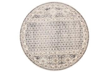 105 Inch Round Rug-Alexander Grey/Ivory
