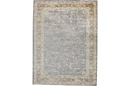 59X92 Rug-Traditional Border Grey