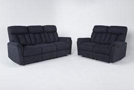 Suzy II Blue 2 Piece Living Room Set