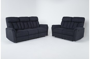 Suzy II Blue 2 Piece Living Room Set