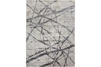79X114 Rug-Natural Abstract Charcoal/Grey