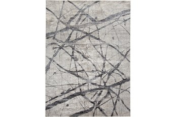 122X165 Rug-Natural Abstract Charcoal/Grey