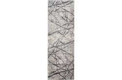31X96 Rug-Natural Abstract Charcoal/Grey