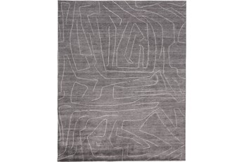 42X66 Rug-Organic Tribal Charcoal