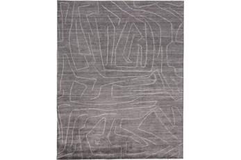 60X96 Rug-Organic Tribal Charcoal