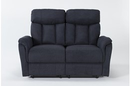 "Suzy II Blue 70"" Reclining Loveseat"