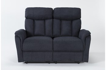 Suzy II Blue Reclining Loveseat
