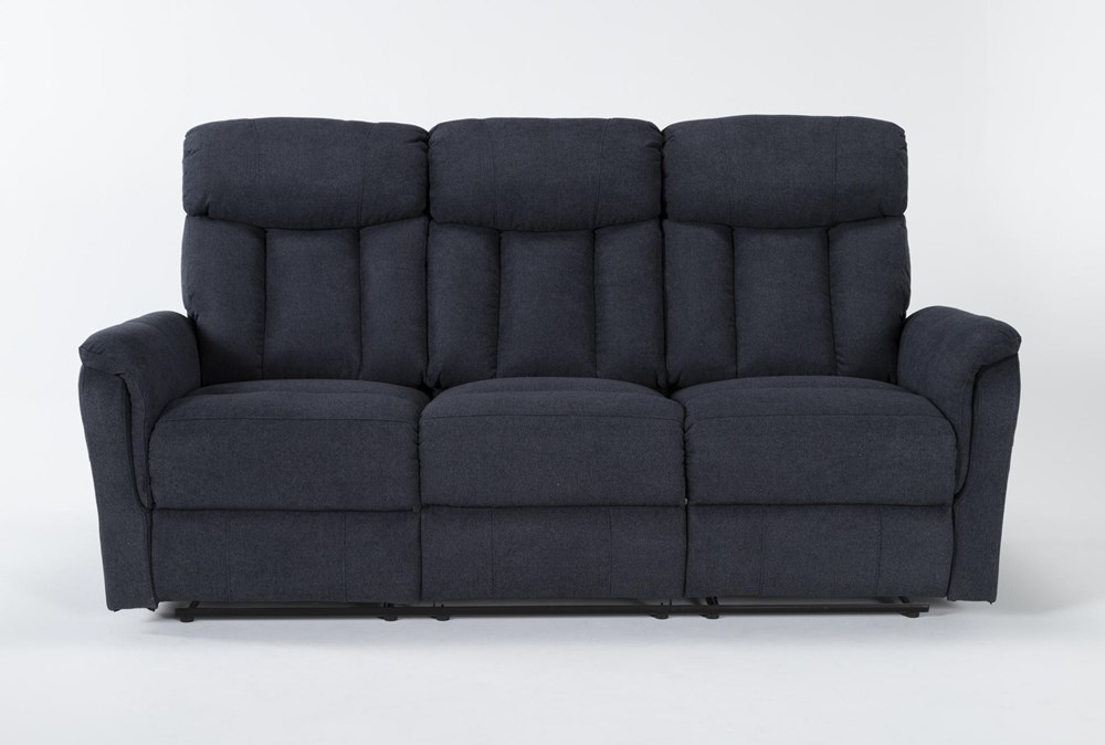 "Suzy II Blue 80"" Reclining Sofa"