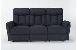 "Suzy II Blue 80"" Reclining Sofa"