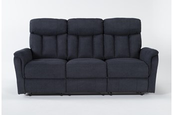Suzy II Blue Reclining Sofa