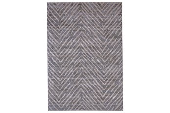 5'x8' Rug-Broken Chevron Silver/Grey
