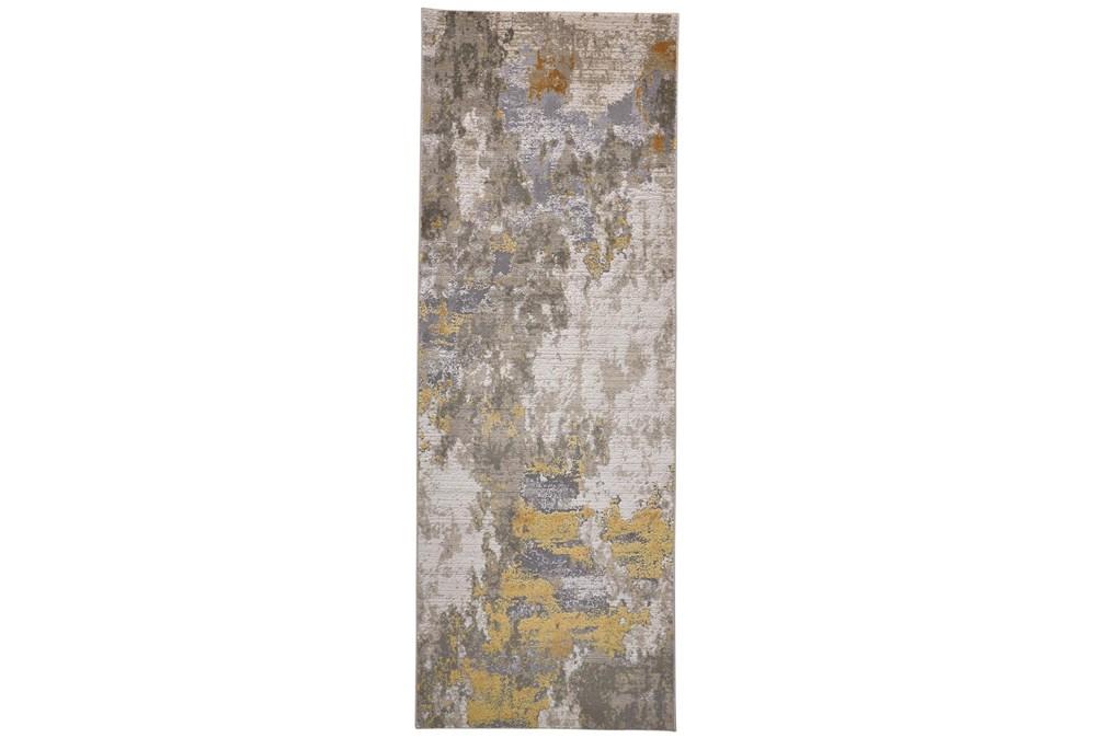 34X94 Rug-Birch Contemporary Gold