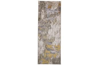 "2'8""x7'8"" Rug-Birch Contemporary Gold"