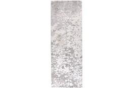 "2'8""x7'8"" Rug-Silver Metallic Abstract"