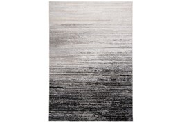 5'x8' Rug-Silver Metallic And Black Horizontal Ombre