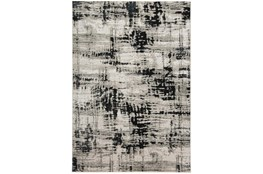 5'x8' Rug-Silver Metallic And Black Abstract Grid