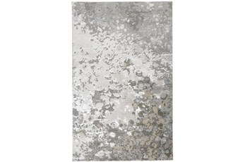96X132 Rug-Silver Metallic Abstract