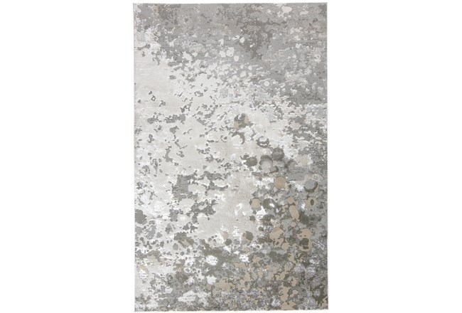 96X132 Rug-Silver Metallic Abstract - 360