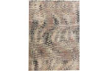 94X126 Rug-Multi Abstract Charcoal