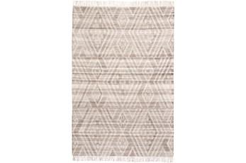 120X168 Rug-Boho Flatweave Grey