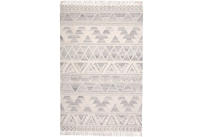 120X168 Rug-Boho Flatweave Light Blue/Ivory - 360