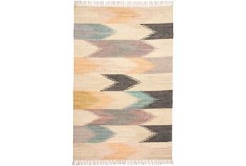5'x8' Rug-Boho Flatweave Multi Colored