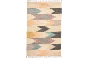 120X168 Rug-Boho Flatweave Multi Colored