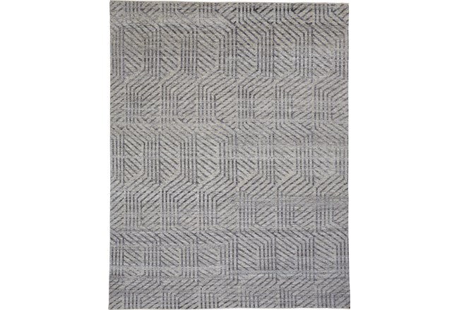 96X120 Rug-Art Deco Hand Knotted Beige - 360