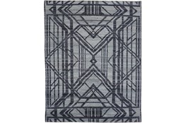 96X120 Rug-Art Deco Hand Knotted Grey/Blue