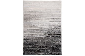 """6'6""""x9'5"""" Rug-Silver Metallic And Black Horizontal Ombre"""