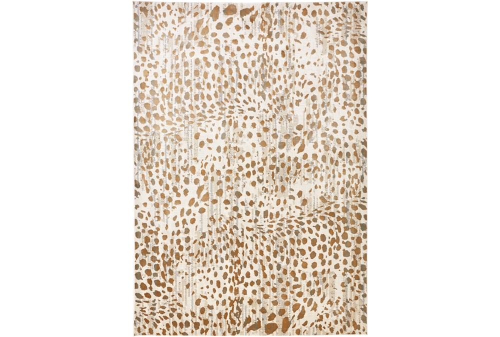60X96 Rug-Leopard Skin Beige/Gold