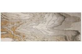 34X94 Rug-Tidal Impressions Ivory/Gold