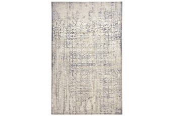 120X158 Rug-Faded Grid Grey/Gold