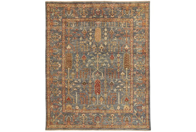 """9'5""""x13'5"""" Rug-Gramoy Hand Knotted Blue/Rust - 360"""
