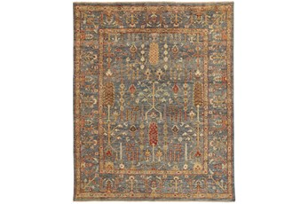 138X180 Rug-Gramoy Hand Knotted Blue/Rust