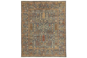 """2'5""""x8' Rug-Gramoy Hand Knotted Blue/Rust"""